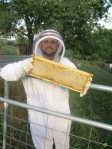 Beekeeper Dave and his first honey harvest
