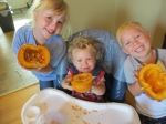 Munchkins with pumpkins