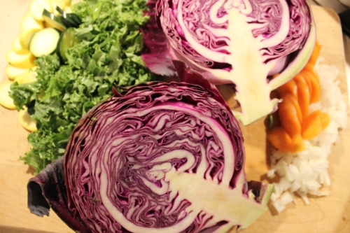 Red cabbage adds eye-popping color to any dish