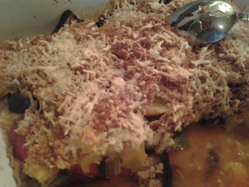 "the picture doesn't do this tomato, eggplant and squash ""tian"" justice. it was tast-ee"